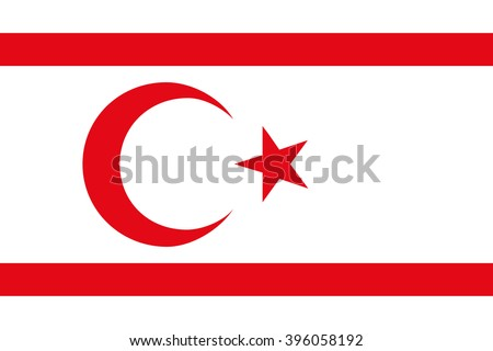 Flag of the Turkish Republic of Northern Cyprus - stock vector