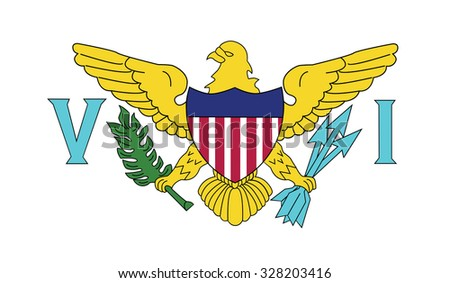 Flag of the U.S. Virgin Islands. Vector