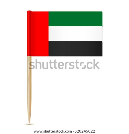 Flag of the United Arab Emirates. Flag toothpick 10eps