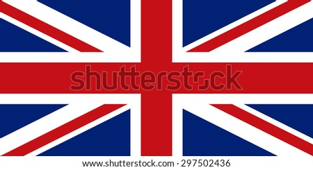 Flag of the United Kingdom of Great Britain and Northern Ireland. Union Jack. Accurate dimensions, proportions and colors. Vector - stock vector