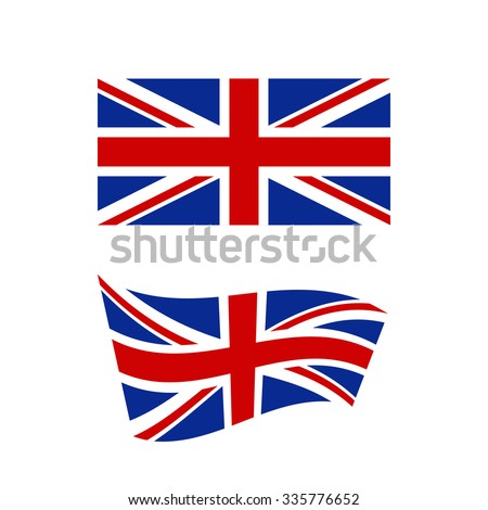 Flag of the United Kingdom of Great Britain in flat and waving shape - vector illustration - stock vector