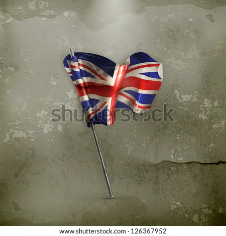 Flag of the United Kingdom, old-style vector - stock vector