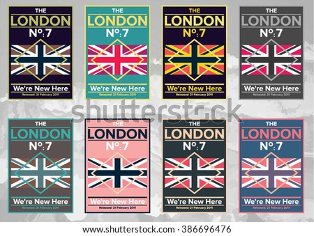 Flag of the United Kingdom. UK grunge Flag Pattern. Union Jack Pattern. Vector eps10 - stock vector