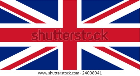 Flag of the United Kingdom (Union Jack) vector - stock vector