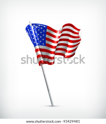 Flag of the United States, 10eps - stock vector