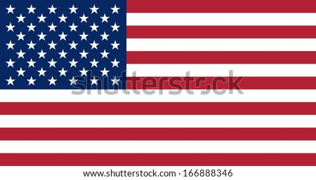 Flag of the United States of America. Vector. Accurate dimensions, element proportions and colors. - stock vector