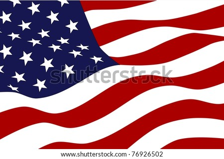 Flag of the USA - stock vector