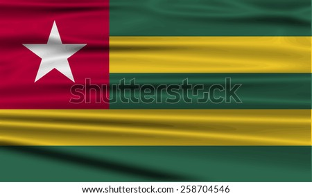 Flag of Togo with old texture. Vector illustration - stock vector
