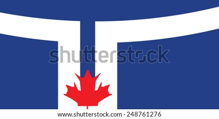 Canadian Flags Toronto Flag of Toronto Vector