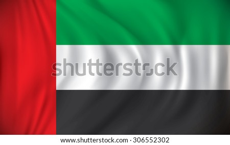 Flag of United Arab Emirates - vector illustration - stock vector