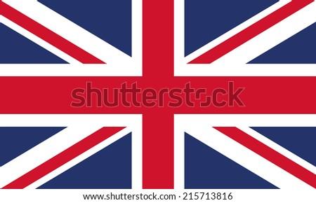 Flag of United Kingdom - stock vector