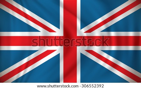 Flag of United Kingdom - vector illustration