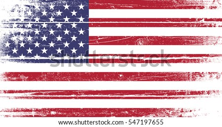 Flag United States America Old Dyed Stock Vector - How old is the united states of america