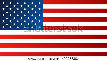 Flag of United States of America, USA - vector graphics