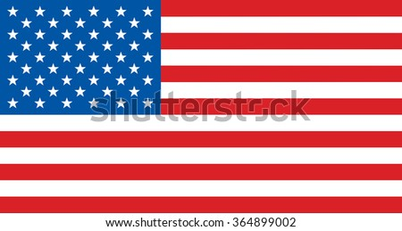 Flag of United States of America - vector