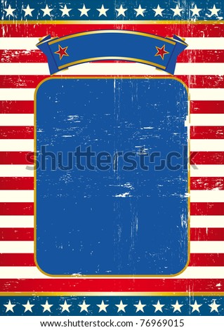 Flag of us background US Poster with a large copy space for your message - stock vector