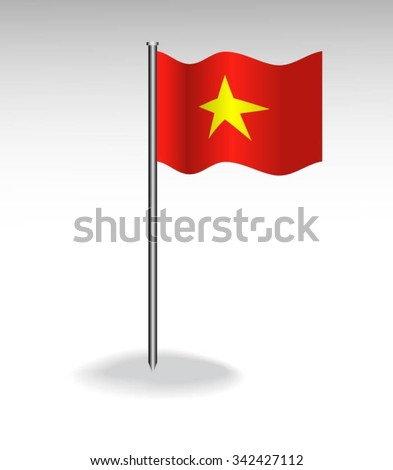 Flag of Vietnam - stock vector