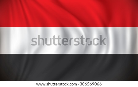 Flag of Yemen - vector illustration - stock vector