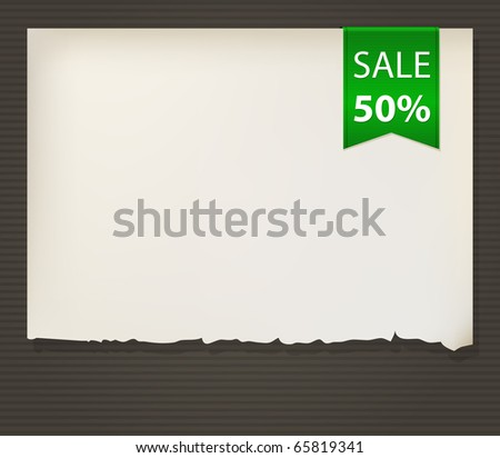 Flag on old paper. Vector illustration. - stock vector