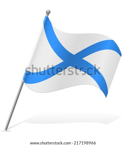 flag Scotland vector illustration isolated on white background - stock vector