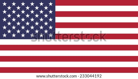 Flag: United states of America - stock vector