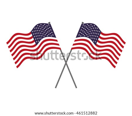 flag united states of america vector isolated graphic