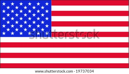 Flag USA - stock vector