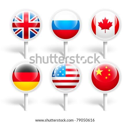 Flag. Vector illustration - stock vector