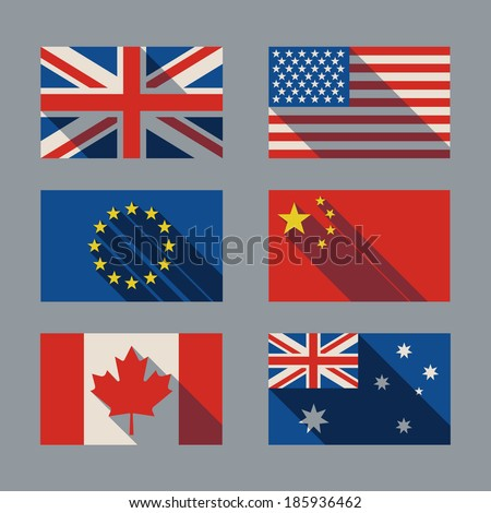 flag with shadow - stock vector