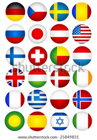 Flags - stock vector