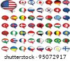 Flags. All elements and textures are individual objects. Vector illustration scale to any size. EPS 10 - stock vector