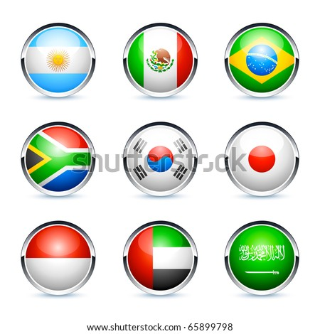 flags icon - stock vector