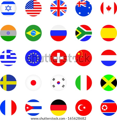 Flags icon set  - stock vector