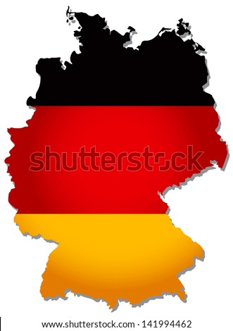 flags map Germany vector illustration
