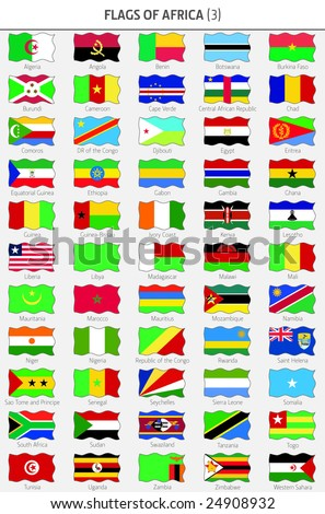 Flags of all African Countries 3