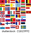 Flags of all European country. Illustration over white background - stock vector