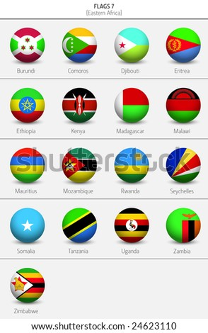 Flags Of Eastern Africa Countries 6