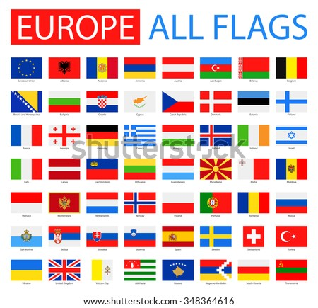 Flags of Europe - Full Vector Collection - stock vector