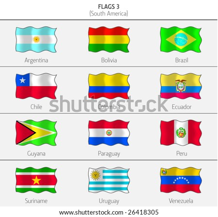 Flags of South America Countries 3