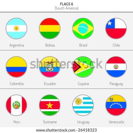 Flags of South America Countries 7
