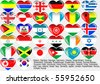 Flags of the countries of the world EPS10 - stock photo