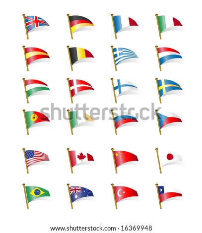 flags of the world - stock vector