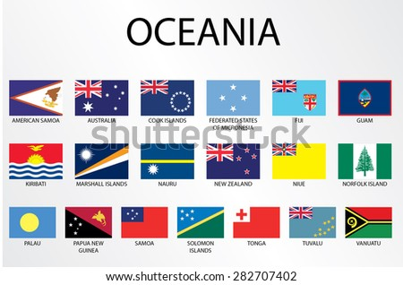 Flags of the world set illustration