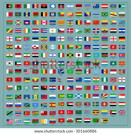 Flags of the world. vector  - stock vector
