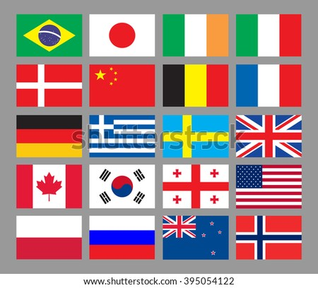 Flags of the world. Vector