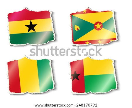 flags of the world, vector illustration - stock vector