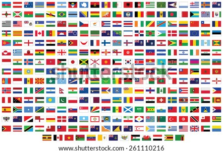 Flags of the world. Vector illustration - stock vector