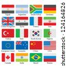 flags set - stock vector