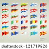 flags set europe - stock vector
