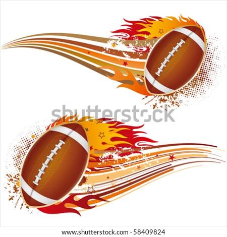 flame,american football design element - stock vector